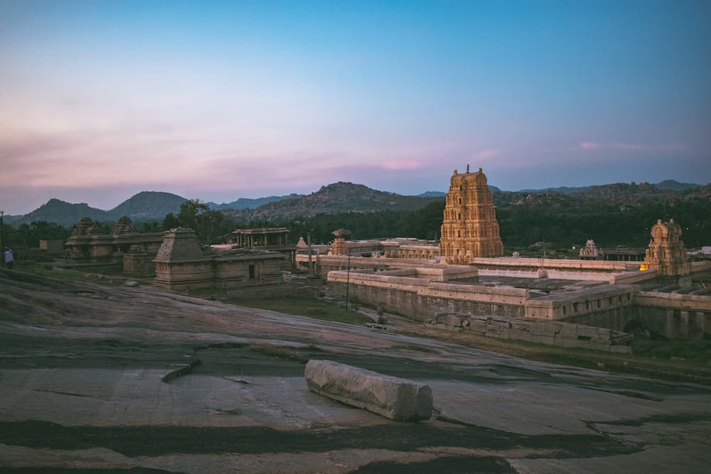 Hampi Karnataka at Sunset
