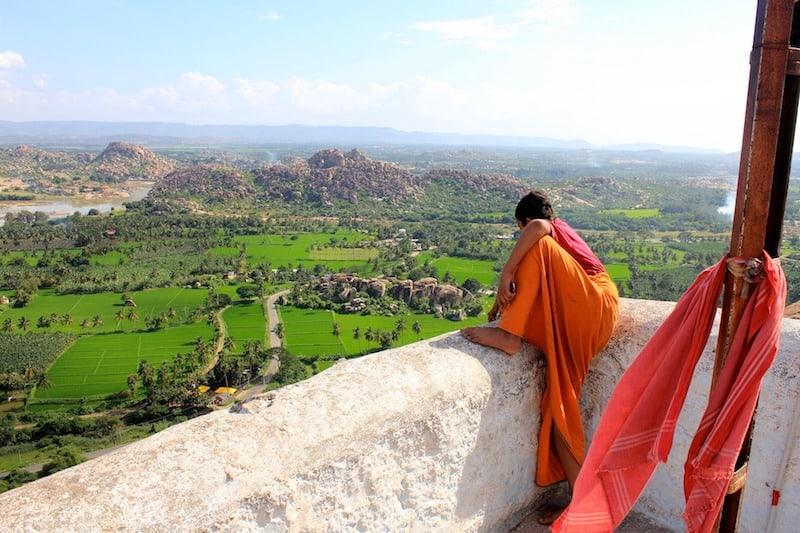 Monk at Hampi, Karnataka
