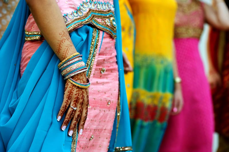 Colourful clothing India