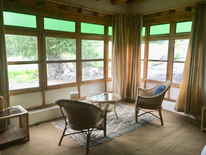 Staying at Shyok River Lodge