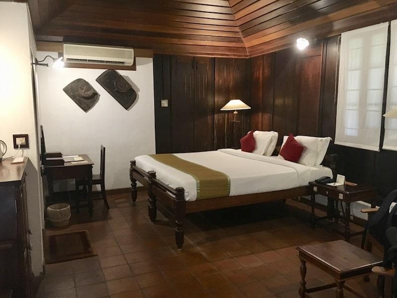 responsible travel in Kumarakom - our room at Coconut Lagoon