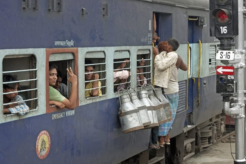 Busy indian train