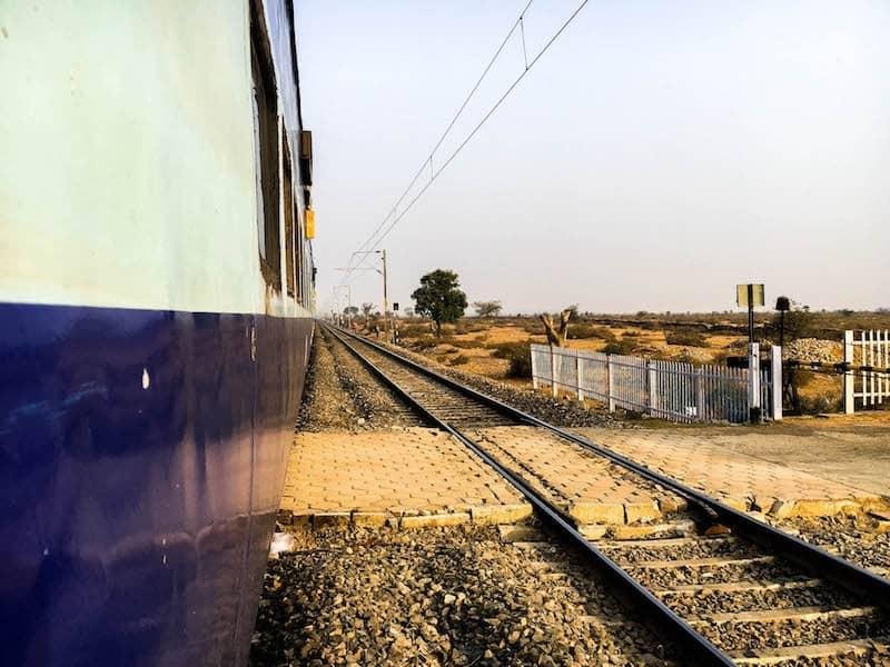 Train from Mumbai to Jaipur.