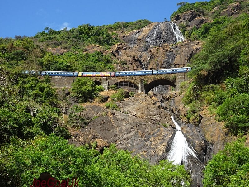 train journeys in goa, india