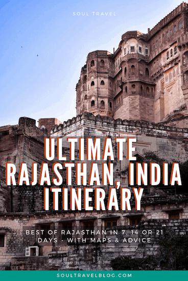 Rajasthan india travel itinerary